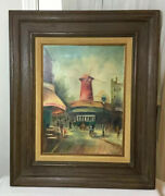 Antique Original Oil Painting On Canvas Framed Wall Art Signed Randolph 24andrdquox20andrdquo