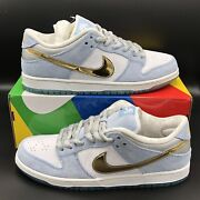 Nike Sb Dunk Low Pro Qs 2020 Sean Cliver Holiday Special Dc9936-100 Size 11.5
