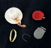 Vintage Barbie Skipper Assorted Hats And Head Pieces