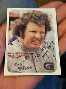 Autographed Fleer Drag Racing Photo Card Tom Mcewen Mongoose Plymouth Funny Car