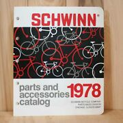 Schwinn Bicycles 1978 Dealer Parts And Accessories Catalog