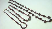 3 Lovely Natural Garnet Bead Necklaces Fancy Lot