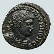 Constantine Ii Jr Authentic Ancient Roman Legion Soldiers Roman Old Coin I91794