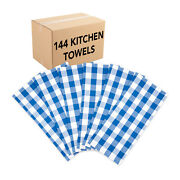 Case Of 144 Buffalo Plaid Kitchen Towels - 20 X 30 In Color Options 100 Cotton