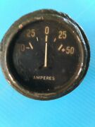 Wwii Original Military Gauge Amperes Willys Mb Gpw Jeep Truck Rare Short Needle