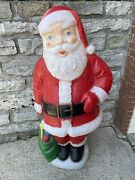 5and039 Ft Tall Large Plastic Santa Claus Christmas Yard Blow Mold Empire Vtg Old