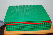 Lot Of 16 Lego Duplo Large 24 X 24 Dot Green And Red Base Plates 15 X 15
