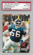 1992 Skybox Impact Major Impact Lawrence Taylor M20 Psa 8 Pop 3 Only 2 Higher