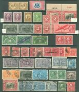 Us Lot Of Used 19th Century Stamps On 2 Pages And Back Of Book Mishmosh Scv 450