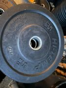 Hi-temp 2 X 5 Lb Bumper Plates Weights 14 Solid Recycled Rubber Factory 2nds