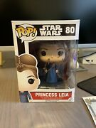Princess Leia Funko Pop Signed By Carrie Fisher