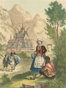 Four Mid 19th Century Aquatint - Fashions From Around The World