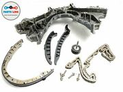 11-18 Porsche Cayenne Turbo 4.8l Engine Face Front Plate W/ Timing Chain Guides