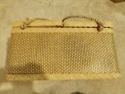 Vintage Large Redmon Wicker Picnic Basket With Rope Handles 20andrdquo X 12andrdquo X 10andrdquo