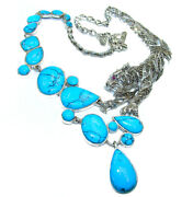 Massive Panthere Genuine Turquoise Marcasite .925 Sterling Silver Handmade Han