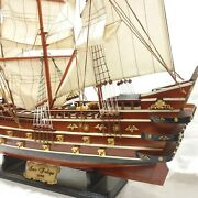 Antique Vintage Style Wooden Yatch Sailing Boat Ship Big Size 37in Express Ship