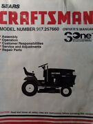 Sears Craftsman 15.5 H.p 42 Riding Lawn Tractor Owner And Parts Manual 917.257660
