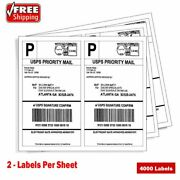 4000 Shipping Address Mailing Labels 8.5x5.5 Half Sheet Self Adhesive For Laser