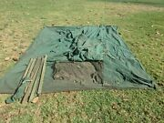 Vintage Canvas Tent Sears Jc Higgins Sears With Wooden Uprights Poles