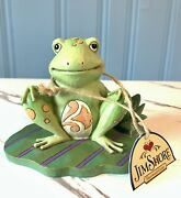 Jim Shore 4037670 Frog On Lily Pad Bounce With Me Heartwood Creek Enesco Nwt