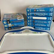 Leap Frog Little Touch Leap Pad Learning System With 9 Cartridges W/ Books Works
