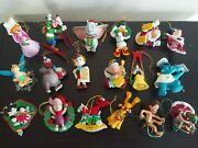 Lot Of 18 Vintage Grolier 1987 Disney Collection Christmas Ornaments.