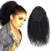 Racily Curly Human Hair Ponytail With Wrap Drawstring 3c Remy Brazilian Hair