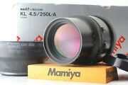 [mint In Box] Mamiya K/l Kl 250mm F4.5 L-a Mf Lens Rb67 Pro S Sd From Japan 797