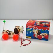 1965 Fisher-price Little Snoopy Dog Pull Toy Tested W/ 1992 Box Nice