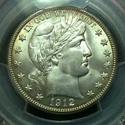Pcgs Ms-64 1912-s Barber Half Dollar Better Date Nice Coin