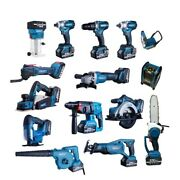 Cordless Drill Impact Wrench Power Tools 151618 Pcs Combo Set With Battery
