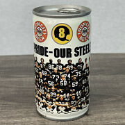 Rare Vintage 1981 Pittsburgh Steelers Pride Iron City Beer Can Nfl Football