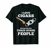 Cigar Accessories Set Cigar Lover Smokers Party Funny T Shirt Tee Gift 2021