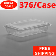 376/case 11 Oz. Bulk Clear Rectangle Vented Clamshell Produce Berry Container
