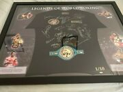 1/10 Legends Of World Boxing Personally Signed Shirt Framed Ali Tyson Pacman