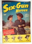 Six Gun Heroes 19 Comic Book 1953 Very Fine- Off White Pages Lash Larue