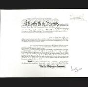 Queen Elizabeth R Ii Signed Royalty Document Military Commission Appointment Er