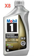8 Quarts Engine Motor Oil Mobil1 Extended Performance Full Synthetic Sae 5w-20