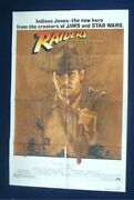 Raiders Of The Lost Ark Original Folded 27x41 Theatrical 1sht Movie Poster 1981