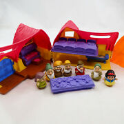 2012 Fisher Price Little People Snow White And 6 Dwarfs House Cottage Playset Lot