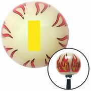 Yellow Ensign Rank Ivory Flame Shift Knob W/ M16x1.5 Insert Shifter Auto Manual