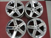 2009-2019 Dodge 1500 Pickup 20 Factory Oem Chrome Clad Wheels And Center Cap Used
