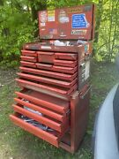 Vintage Yorktown Metal Standing Tool Box And Chest Cabinet