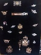 20 Masonic And Shrine Pin Most Are 14k Some Are 10k Diamond Are Real In Shadow B