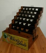 Antique Rices Seeds Advertising Country General Store Folding Display Cabinet