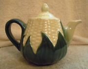 Vintage Shawnee Corn King Queen Individual 10 Oz. Teapot Lid No 65 4 In Tall