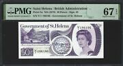 St Helena 50 Pence 1979 P-5a 186186 Repeater S/n Pmg 67 Epq Superb Gem Unc