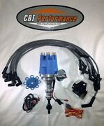 Ford Pro Series 260, 289, 302 Small Cap Hei Distributor, Coil + Spark Plug Wires
