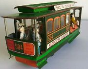 San Francisco Cable Car Friction Toy, Municipal Railway 504 Bay And Taylor Sts.