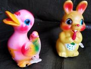 Vintage Saito S2 Made In Japan Wind Up Rabbit/ Duck Mid Century Toy Lot